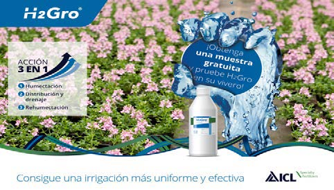 ICL lanza una promoción para probar gratuitamente el agente humectante H2Gro en su vivero
